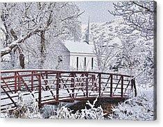 Acrylic Print featuring the photograph Bridge To Faith by Diane Alexander