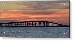 Bridge To Hatteras Acrylic Print