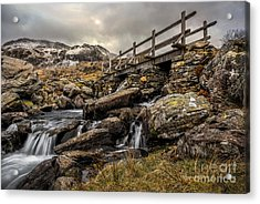 Bridge To Moutains Acrylic Print by Adrian Evans