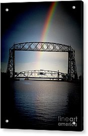 Somewhere Over The Lift Bridge Acrylic Print by Mark David Zahn Photography