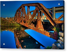 Bridge To Yesterday Acrylic Print by William Wetmore