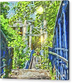 Acrylic Print featuring the photograph Bridge To Your Dreams by LemonArt Photography
