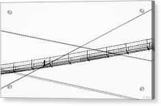 Acrylic Print featuring the photograph Bridge Walker by Joe Bonita