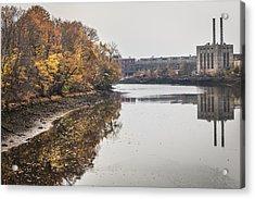 Bridgeport Factory Acrylic Print by Lora Lee Chapman
