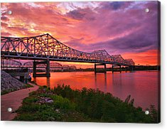 Bridges At Sunrise II Acrylic Print by Steven Ainsworth