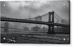Bridges In The Storm Acrylic Print