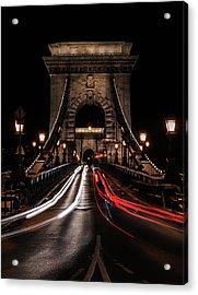 Acrylic Print featuring the photograph Bridges Of Budapest - Chain Bridge by Jaroslaw Blaminsky