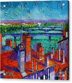 Bridges Of Lyon Acrylic Print by Mona Edulesco