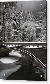 Bridges Of Multnomah Falls Acrylic Print by Wes and Dotty Weber