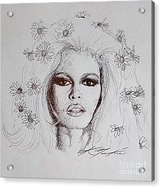 Bridget Bardot Acrylic Print
