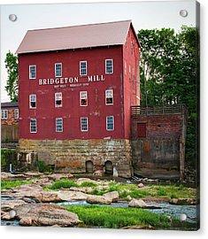 Bridgeton Mill - Indiana Square Art Acrylic Print by Gregory Ballos