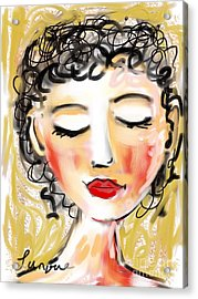 Bridgett Acrylic Print by Elaine Lanoue