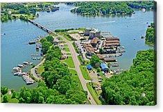 Bridgewater Plaza Aerial Acrylic Print