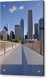 Bridgeway To Chicago Acrylic Print by Steve Gadomski