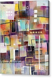 Acrylic Print featuring the painting Bridging Gaps 2 by Hailey E Herrera