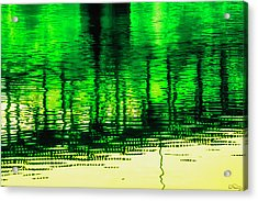 Acrylic Print featuring the photograph Bridging The Waters by Dee Browning