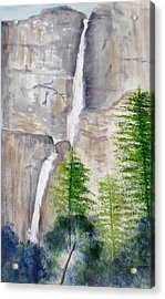 Bridal Veil Waterfall Acrylic Print