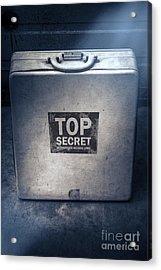 Brief Case Of Top Secret Espionage Acrylic Print