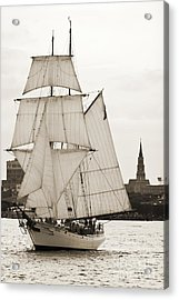 Brigantine Tallship Fritha Sailing Charleston Harbor Acrylic Print