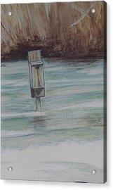 Brigham Pond Duck Box Acrylic Print by Debra Sandstrom