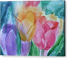 Bright And Pretty Acrylic Print by Dianna Willman
