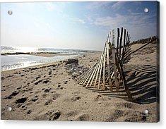 Bright Beach Morning Acrylic Print by Mary Haber