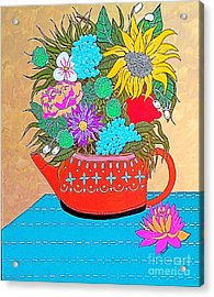 Bright Bouquet Acrylic Print by Amy Sorrell