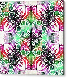 Bright Colorful Pattern Art - Color Fusion Design 10 By Sharon Cummings Acrylic Print by Sharon Cummings