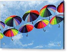 Bright Colorful Umbrellas  Acrylic Print
