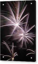 Bright Fireworks Acrylic Print by Garry Gay