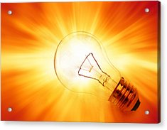 Bright Idea Acrylic Print by Les Cunliffe