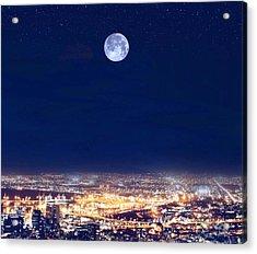 Bright Lights Big City Acrylic Print
