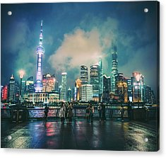 Bright Lights Of Pudong Acrylic Print