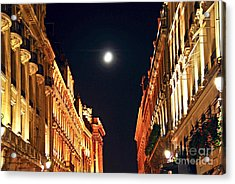 Bright Moon In Paris Acrylic Print by Elena Elisseeva