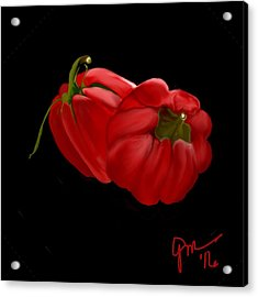 Bright Red Peppers Acrylic Print