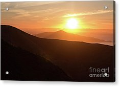 Bright Sun Rising Over The Mountains Acrylic Print