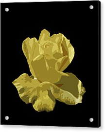 Bright Yellow Beauty Acrylic Print by Laurel Powell