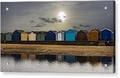 Brightlingsea Beach Huts Acrylic Print by Martin Newman