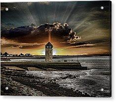 Brightlingsea Beach Acrylic Print by Martin Newman