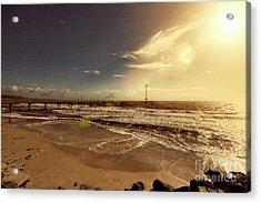 Acrylic Print featuring the photograph Brighton Beach Pier by Douglas Barnard