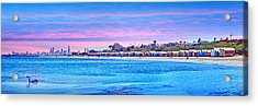 Brighton Beach Sunset Acrylic Print