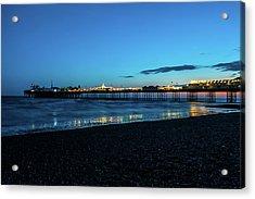 Brighton Pier At Sunset Ix Acrylic Print