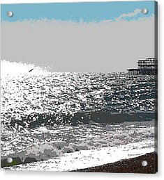 Brighton West Peer Acrylic Print