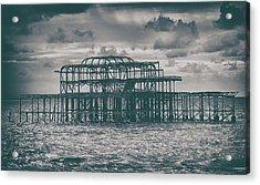 Brighton's Old Pier Acrylic Print