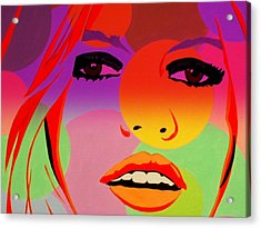 Brigitte Bardot ... Young  Acrylic Print by Funkpix Photo Hunter