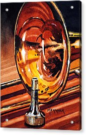 Brilliant Brass Acrylic Print by Spencer Meagher