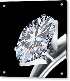 Brilliant Cut Diamond Acrylic Print by Setsiri Silapasuwanchai