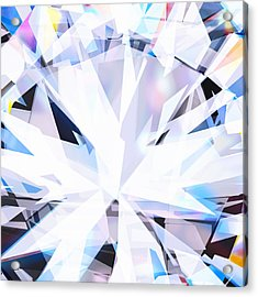 Brilliant Diamond  Acrylic Print by Setsiri Silapasuwanchai