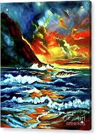 Brilliant Hawaiian Sunset Acrylic Print