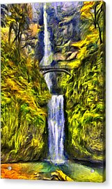 Brilliant Multnomah  Acrylic Print by Mark Kiver